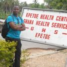Jerry Nutor at a local  hospital in the Volta  Region, Ghana.
